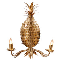 A&B Home 43059 Pineapple 16 inch Gold Wall Lamp Wall Light