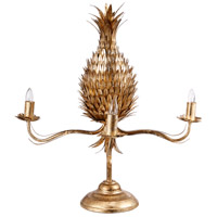 A&B Home 43060 Pineapple 26 inch 75 watt Gold Table Lamp Portable Light