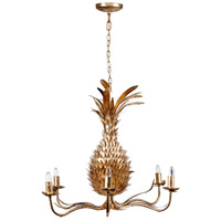 A&B Home 43061 Pineapple 27 inch Gold Chandelier Ceiling Light