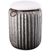 Quinby 20 inch Silver Stool