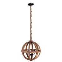 A&B Home 43294 Pratt 22 inch Natural Wood Chandelier Ceiling Light