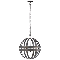 Kenzo 20 inch Antique Silver Chandelier Ceiling Light