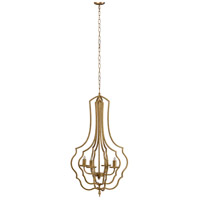 A&B Home 43462-DS Valerio 19 inch Antique Gold Chandelier Ceiling Light
