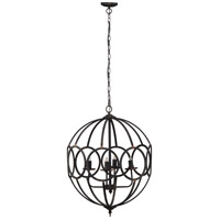 A&B Home 43464-DS Malin 22 inch Antique Black Chandelier Ceiling Light