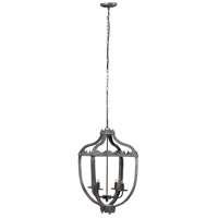 A&B Home 43468-DS Malin 16 inch Antique Black Chandelier Ceiling Light