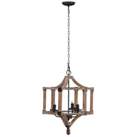 A&B Home 43472-DS Andreas 20 inch Antique Wood Chandelier Ceiling Light