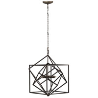 A&B Home 43477-DS Takio 22 inch Matte Black Chandelier Ceiling Light