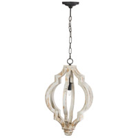 A&B Home 43484 Bellamy 16 inch Antique White and Gold Chandelier Ceiling Light