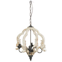 A&B Home 43487 Swithun 15 inch Antique White and Gold Chandelier Ceiling Light