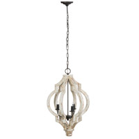 A&B Home 43488 Bellamy 19 inch Antique White and Gold Chandelier Ceiling Light