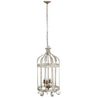 A&B Home 43489 Imre 18 inch Antique White Chandelier Ceiling Light