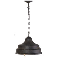 A&B Home 43490 Quillon 18 inch Antique Black Pendant Ceiling Light