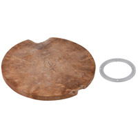 Teak Natural / White / Silver Table Top with Lazy Susan