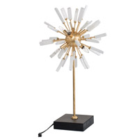 A&B Home 43590 Florrie Table 29 inch 60 watt Gold and White Table Lamp Portable Light