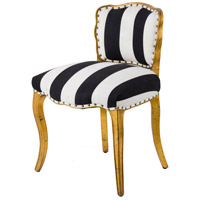 Armless Golden Foil / Black / White Armless Chair
