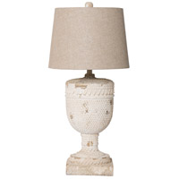 A&B Home 43627-DS Signature 32 inch Aged White Table Lamp Portable Light