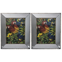 A&B Home 43644-DS Daven Mirrored and Multi-Color Wall Art, Set of 2 photo thumbnail