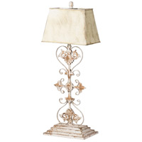 A&B Home 43655 Table 37 inch 60 watt Distressed White and Gold Table Lamp Portable Light