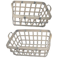 A&B Home 43767 Rustic 22 X 11 inch Basket, Set of 2 photo thumbnail