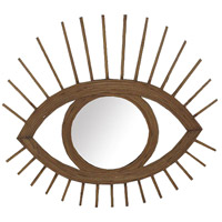 Eye-Shaped 20 X 19 inch Natural Mirror