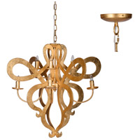 A&B Home 43939 Classic Vintage 32 inch Gold Chandelier Ceiling Light