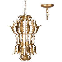 A&B Home 43943-DS Classic Vintage 20 inch Gold Leaf Chandelier Ceiling Light
