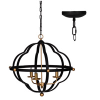 A&B Home 43944-DS Modern Chic 24 inch Black and Gold Chandelier Ceiling Light