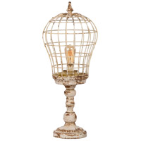 A&B Home 43961-DS Classic Vintage 31 inch 60 watt Distressed White Table Lamp Portable Light