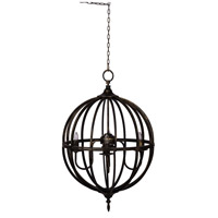 A&B Home 43962-DS Vintage Glamour 19 inch Antique Black Chandelier Ceiling Light