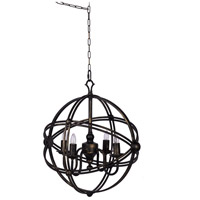 A&B Home 43963-DS Vintage Glamour 19 inch Antique Black Chandelier Ceiling Light