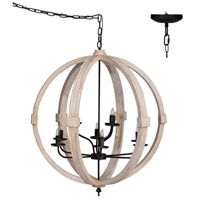 A&B Home 44019 Classic Vintage 32 inch Gold Chandelier Ceiling Light