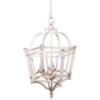 A&B Home 44025-DS Classic Vintage 18 inch Weathered White Chandelier Ceiling Light