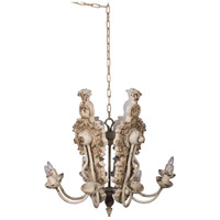 A&B Home 44026 Classic Vintage 21 inch Distressed White Chandelier Ceiling Light