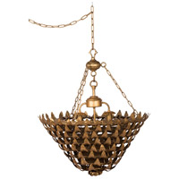 A&B Home 44027 Classic Vintage 23 inch Gold Chandelier Ceiling Light