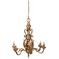 A&B Home 44028 Classic Vintage 24 inch Gold Chandelier Ceiling Light