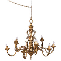 A&B Home 44029 Classic Vintage 33 inch Gold Chandelier Ceiling Light