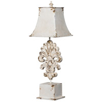 A&B Home 44035-DS Classic Vintage 29 inch 60 watt Distressed White Wash Table Lamp Portable Light