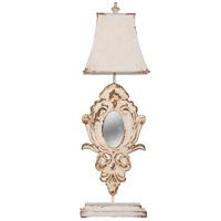 A&B Home 44037-DS Classic Vintage 30 inch 60 watt Distressed White Wash Table Lamp Portable Light