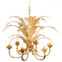 A&B Home 44100 Modern 24 inch Gold Chandelier Ceiling Light