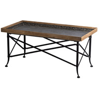 A&B Home 44123 Classic 44 X 21 inch Natural and Black Coffee Table