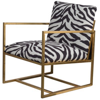 Zebra Gold Arm Chair