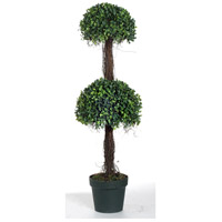 Two-Tier Green Faux Botanical