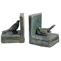 A&B Home 69161 Sophronia 5 inch Antique Blue and Gray Bookends photo thumbnail
