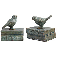 Sophronia 6 inch Antique Blue and Gray Bookends, Set of 2