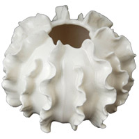 Ruffled Gloss White Accent Décor