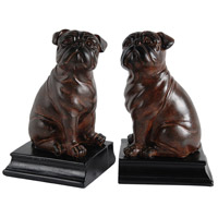 Bull 5 inch Brown Bookends, Set of 2