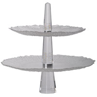 Orlinda Clear 2-Tier Serving Tray