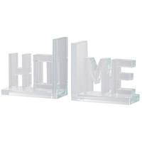 Home 6 inch Clear Bookends, Set of 2