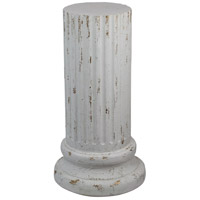 A&B Home 76899-WHIT Signature Antique White Outdoor Pedestal