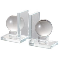 Glass 9 inch Clear Bookends